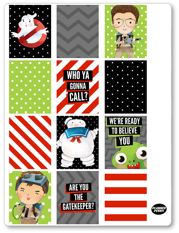 Ghost Fighters Men Full Boxes PDF PRINTABLE Planner Stickers - Planner Penny