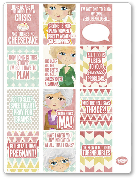 Golden Girls Full Boxes Planner Stickers
