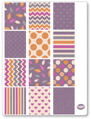Purple Autumn Full Boxes PDF PRINTABLE Planner Stickers