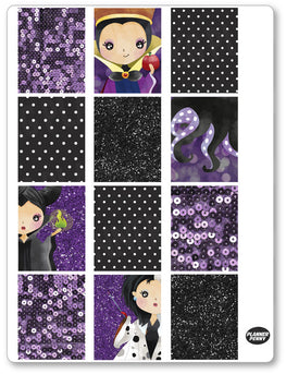 Evil Women Full Boxes PDF PRINTABLE Planner Stickers - Planner Penny