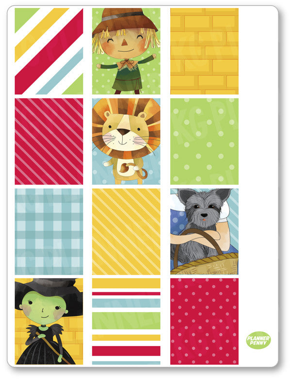 Oz Full Boxes PDF PRINTABLE Planner Stickers