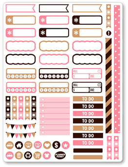 But First Coffee Functional PDF PRINTABLE Planner Stickers