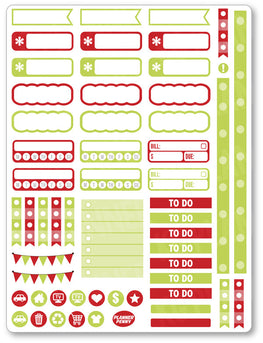 Christmas Grouch Functional Planner Stickers - Planner Penny