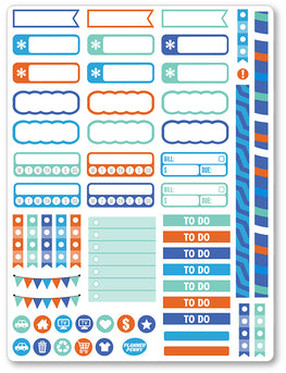 Great Scott Functional PDF PRINTABLE Planner Stickers