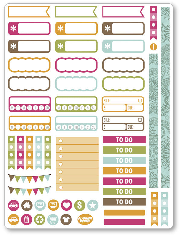 Island Princess Functional Planner Stickers