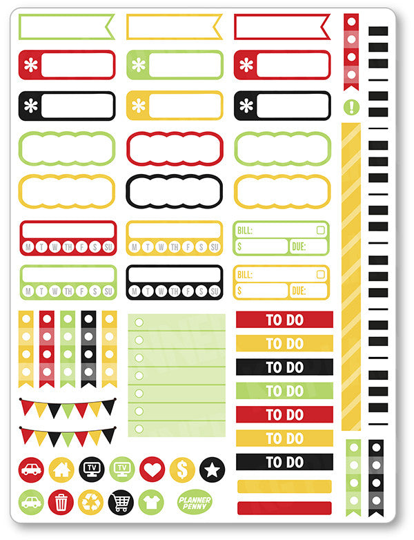 Music Legends Functional Planner Stickers