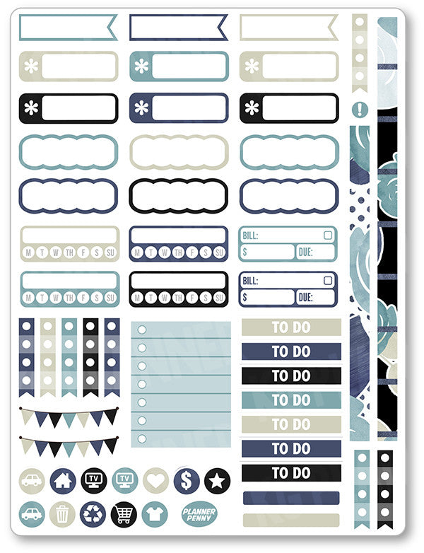 Pirates Functional Planner Stickers