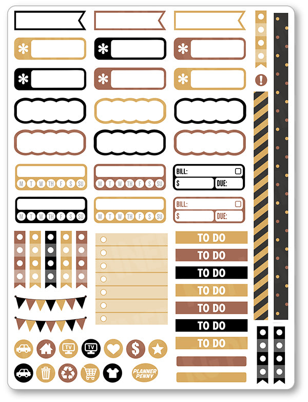 Scary Movies Functional Planner Stickers