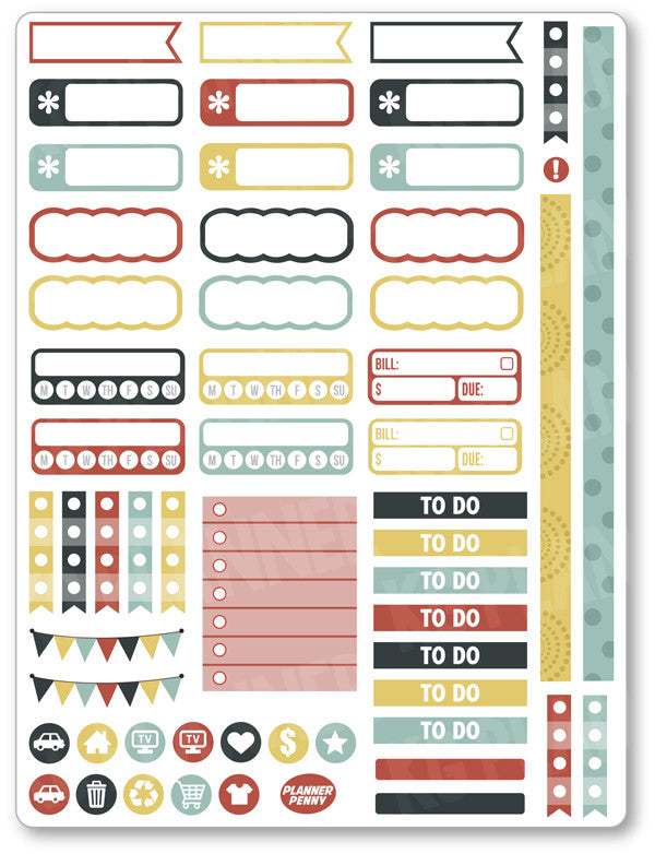 Strangers Functional PDF PRINTABLE Planner Stickers