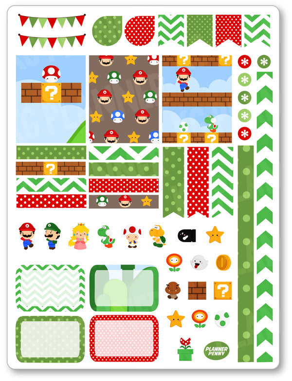 Gaming Friends Decorating Kit PDF PRINTABLE Planner Stickers - Planner Penny