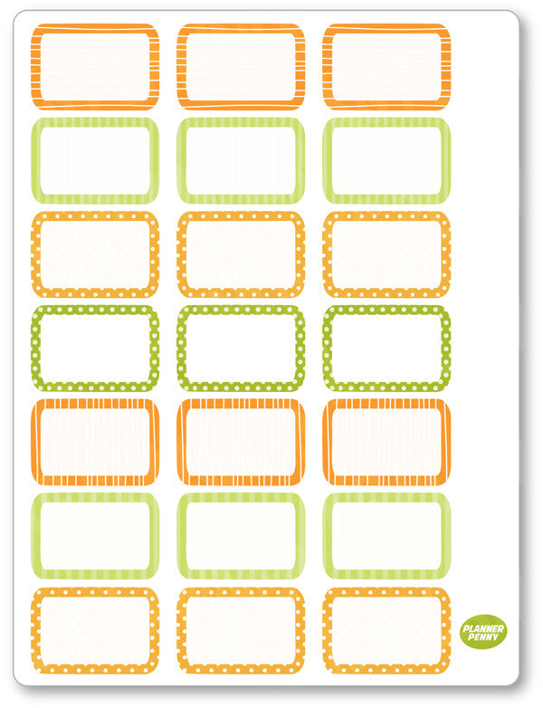 Autumn Girl Half Boxes PDF PRINTABLE Planner Stickers