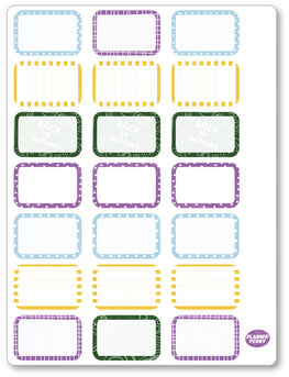 Back To School Half Boxes PDF PRINTABLE Planner Stickers - Planner Penny