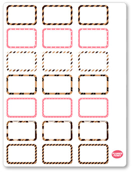 But First Coffee Half Boxes PDF PRINTABLE Planner Stickers