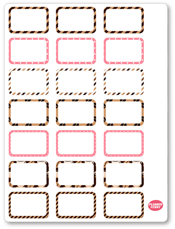 But First Coffee Half Boxes PDF PRINTABLE Planner Stickers - Planner Penny