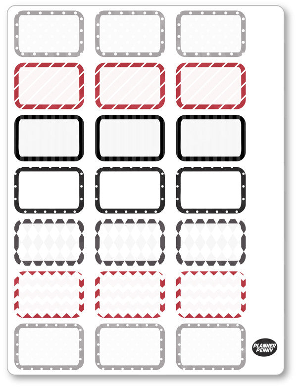 Chaplin Half Boxes PDF PRINTABLE Planner Stickers - Planner Penny