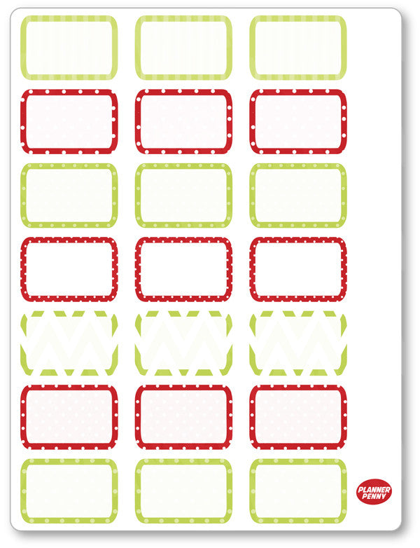 Christmas Grouch Half Boxes PDF PRINTABLE Planner Stickers - Planner Penny