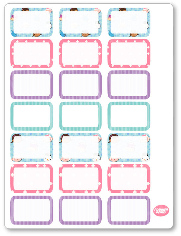 Doctor Girl Half Boxes PDF PRINTABLE Planner Stickers