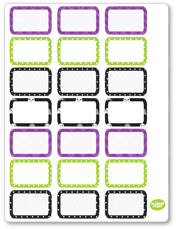 Franken Family Half Boxes PDF PRINTABLE Planner Stickers - Planner Penny