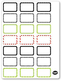 Ghost Fighters Men Half Boxes PDF PRINTABLE Planner Stickers - Planner Penny