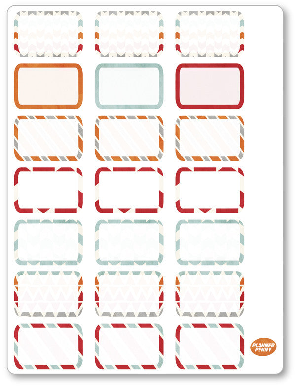 Ghost Fighters Half Boxes PDF PRINTABLE Planner Stickers