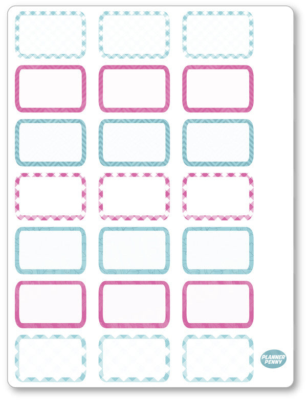 Gobble Gobble Half Boxes PDF PRINTABLE Planner Stickers
