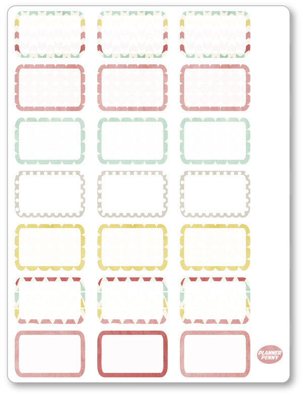 Golden Girls Half Boxes PDF PRINTABLE Planner Stickers - Planner Penny