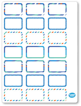 Great Scott Half Boxes PDF PRINTABLE Planner Stickers