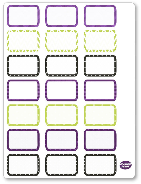 Hocus Pocus Half Boxes PDF PRINTABLE Planner Stickers - Planner Penny