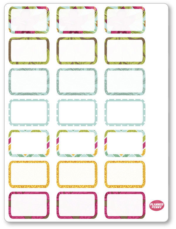 Island Princess Half Boxes PDF PRINTABLE Planner Stickers