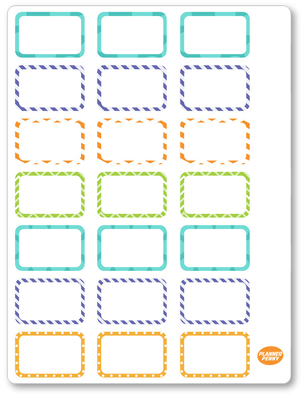 Mystery Crew Half Boxes PDF PRINTABLE Planner Stickers - Planner Penny