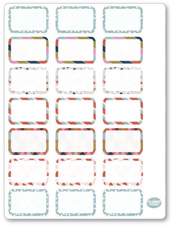 Oh Fudge Half Boxes PDF PRINTABLE Planner Stickers - Planner Penny