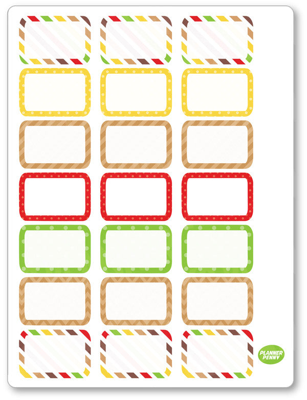 Oktoberfest Half Boxes PDF PRINTABLE Planner Stickers - Planner Penny
