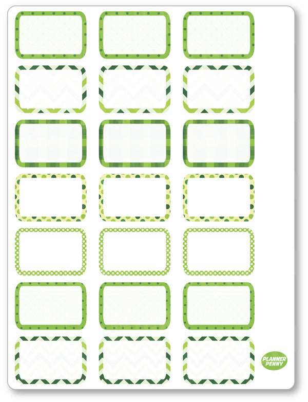 Pinch Proof Half Boxes PDF PRINTABLE Planner Stickers