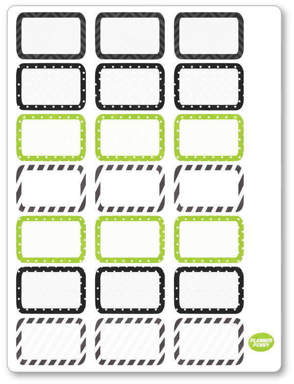 Spooky Family Half Boxes PDF PRINTABLE Planner Stickers - Planner Penny