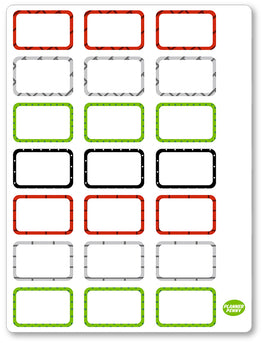 Turtle Ninjas Half Boxes PDF PRINTABLE Planner Stickers