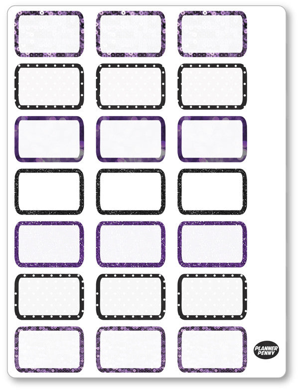 Evil Women Half Boxes PDF PRINTABLE Planner Stickers - Planner Penny