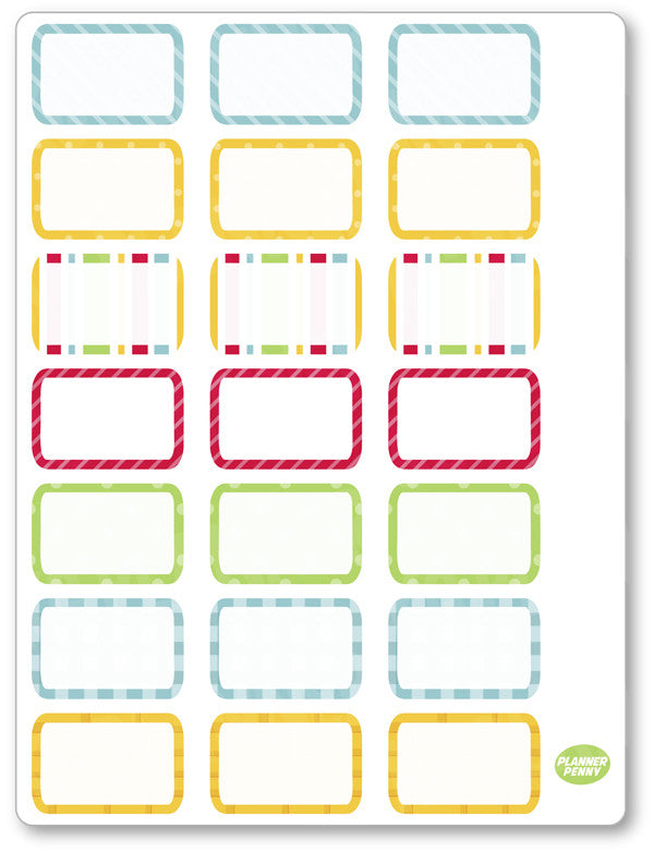 Oz Half Boxes PDF PRINTABLE Planner Stickers