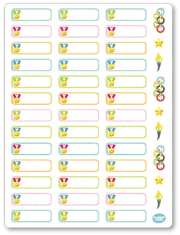 Olympic Labels Planner Stickers - Planner Penny