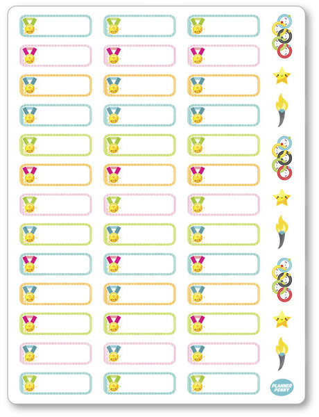 Olympic Labels Planner Stickers