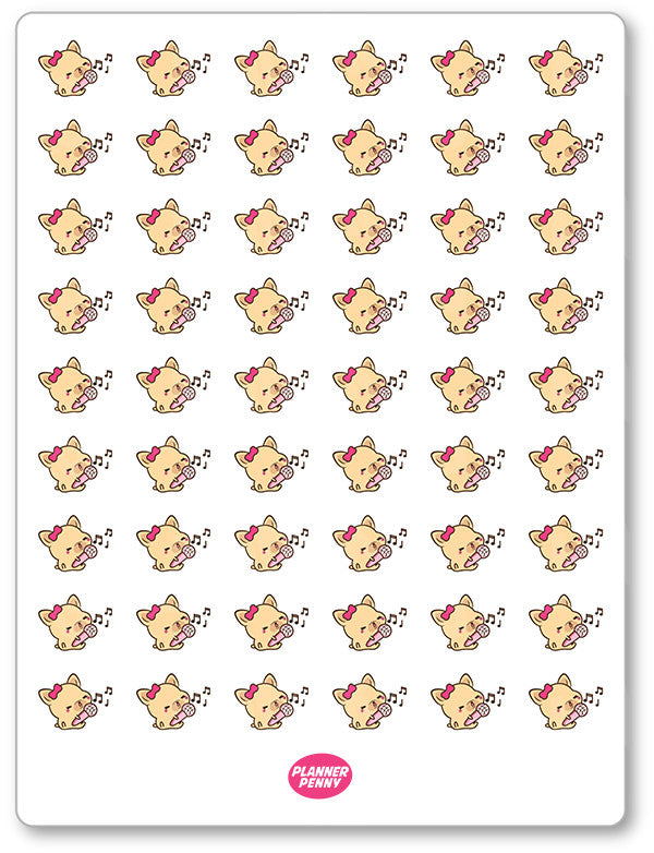 Penny Singing (Small) Planner Stickers