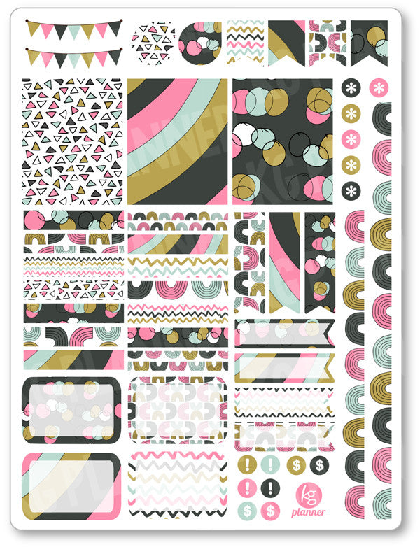 Sweet Rainbow Decorating Kit PDF PRINTABLE Planner Stickers - Planner Penny
