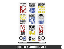 Quotes • Anchorman Full Box Planner Stickers - Planner Penny