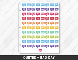 Quotes • Bad Day Planner Stickers - Planner Penny