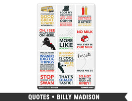 Quotes • Billy Madison Full Box Planner Stickers - Planner Penny
