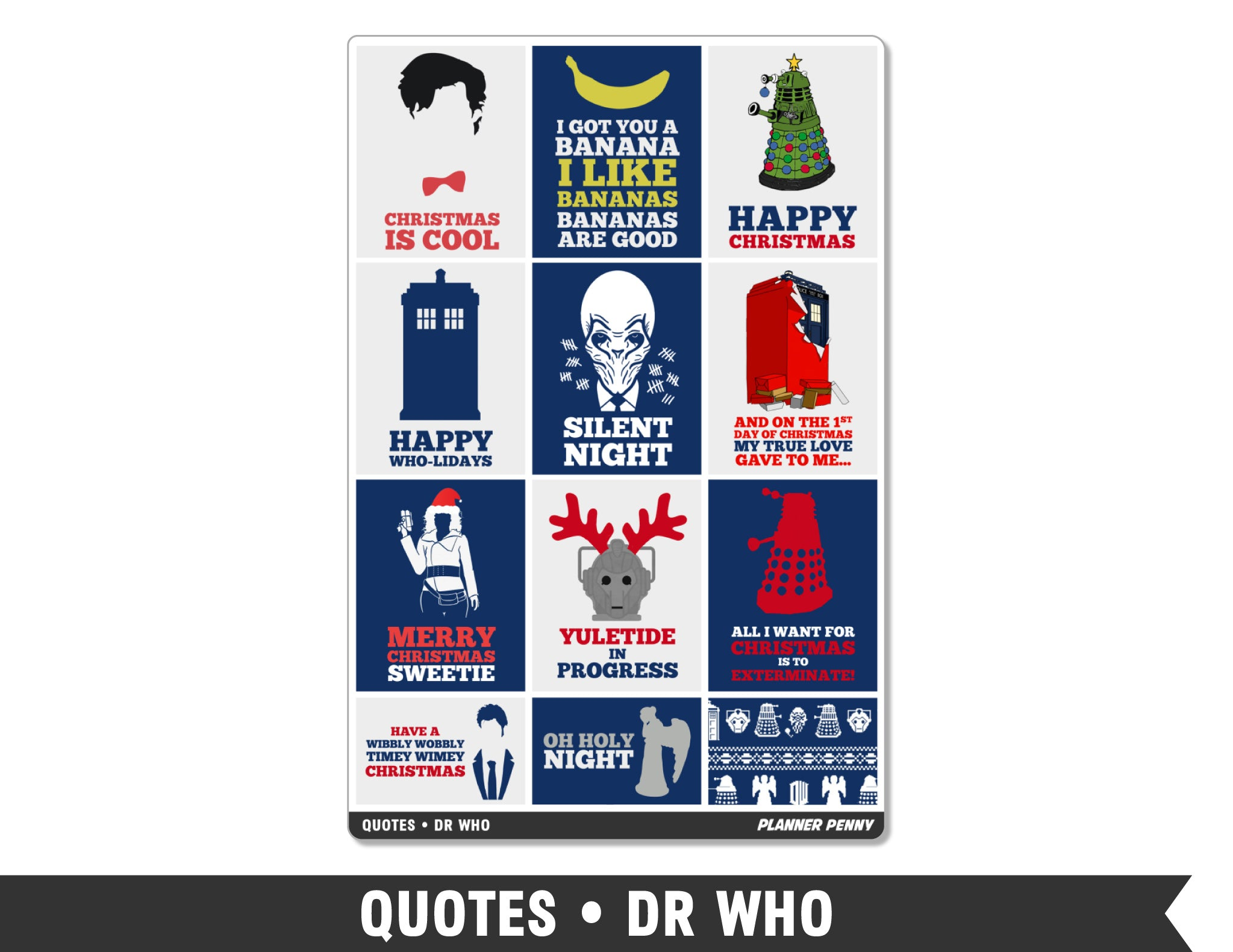 Quotes • Dr Who Full Box Planner Stickers - Planner Penny