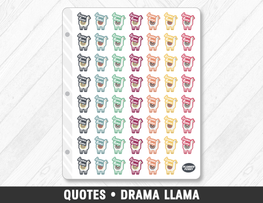 Quotes • Drama Llama Planner Stickers - Planner Penny