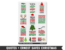 Quotes • Ernest Saves Christmas Full Box Planner Stickers - Planner Penny
