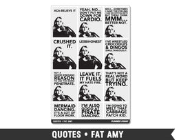 Quotes • Fat Amy Full Box Planner Stickers - Planner Penny