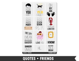 Quotes • Friends Full Box Planner Stickers