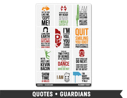Quotes • Guardians Full Box Planner Stickers - Planner Penny